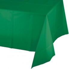 Green Emerald Celebrations Plastic Plastic Table Cover
