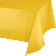 Yellow School Bus Celebrations Plastic Table Cover