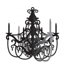 Party in Paris Black Hanging Chandelier Hanging Decoration
