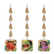 Dinosaur Dino Blast Cutouts Hanging Decorations 91cm Pack of 3