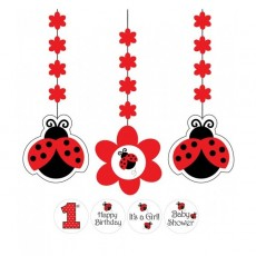 Ladybug Fancy Red  Hanging Decorations