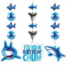 Shark Splash Blue Cutouts Hanging Decorations