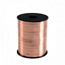 Pink Rose Gold Metallic Curling Ribbon