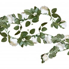 Wedding Rustic Country White Flowers Garland 2m