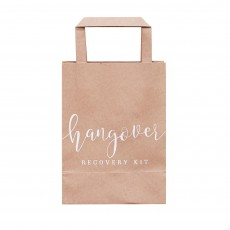 Wedding Rustic Country Hangover Cure Favour Bags 15cm x 26.5cm Pack of 5