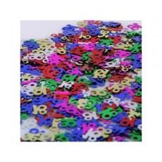 18th Birthday Multi Coloured Scatter Confetti