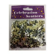 21st Birthday Black, Silver & Gold  Confetti
