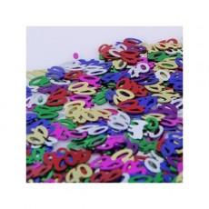 40th Birthday Multi Coloured Scatters Confetti