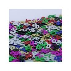 50th Birthday Multi Coloured Scatter Confetti
