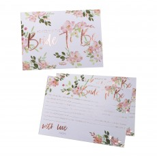 Hens Night Floral Advice Cards Party Games