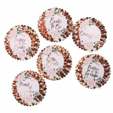 Hens Night Floral Pin Badges Costume Accessories
