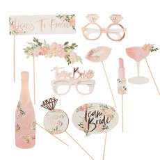 Hens Night Floral Photo Props Pack of 10