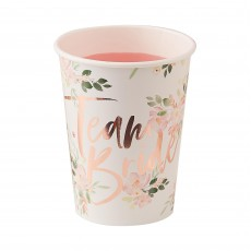 Hens Night Floral Paper Cups