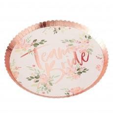 Hens Night Floral Team Bride Dinner Plates 24cm Pack of 8