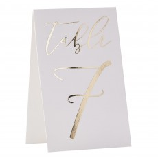 Wedding Party Supplies - Gold Wedding Table Card Numbers