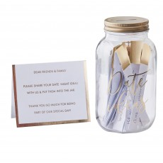 Wedding Gold  Guest Book Date Jar Misc Accessorie