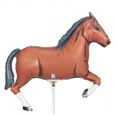 Horse Racing Mini Brown Horse Shaped Balloon