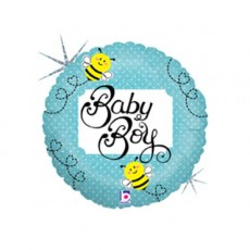 Baby Shower - General Blue  Foil Balloon