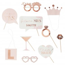 Hens Night Rose Gold  Photo Props