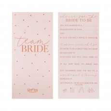 Rose Gold Hens Night Advice Cards Party Games Pack of 10