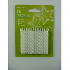 White Stripe Candles