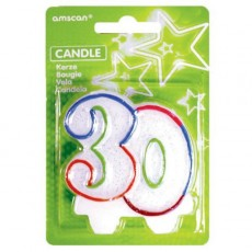 30th Birthday Milestone Numeral Candle