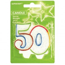 50th Birthday Numeral 50 Candle