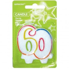 60th Birthday Milestone Numeral Candle