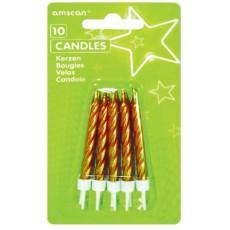 Gold Spiral Candles
