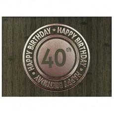 40th Birthday Charcoal  Keepsake Book