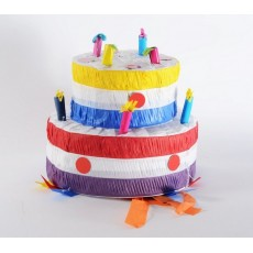 Happy Birthday Birthday Cake with Candles Pinata