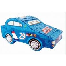 Happy Birthday Blue Racing Car Pinata