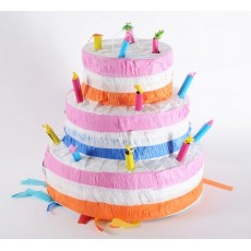 Happy Birthday 3 Layers Birthday Cake & Candle Pinata