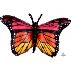 Multi Colour SuperShape Monarch Butterfly Shaped Balloon