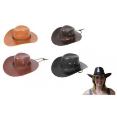 Cowboy & Western Leather Look Cowboy Hat Costume Accessorie
