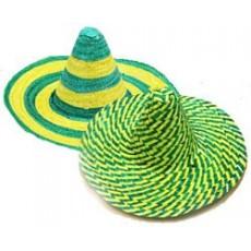 Australia Day Green & Gold Mexican Sombrero Head Accessorie