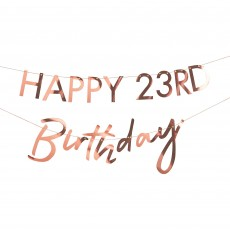 Happy Birthday Mix It Up Rose Gold Customisable Milestone Bunting Banner