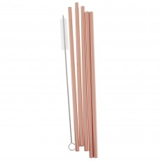 Pink Mix It Up Rose Gold Straws Pack of 5