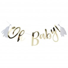 Gold Oh Baby! Backdrop Banners Pack of 2