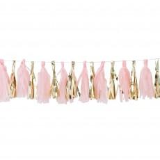 Pink & Gold Oh Baby! Tassel Garland