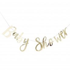 Gold Oh Baby! Baby Shower Banner 1.5m