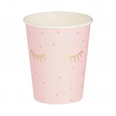 Gold & Pink Pamper Club Sleepy Eyes Paper Cups 354ml Pack of 8
