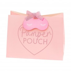 Pink Glitter Pamper Club Pamper Pouch Favour Bags 20cm x 15cm Pack of 5