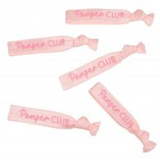Pamper Club Pink Glitter Elastic Hair Ties Head Accessories