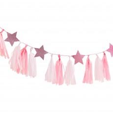 Pink Glitter Pamper Club Garland 2m