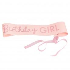 Pamper Club Pink Glitter Sash Costume Accessorie