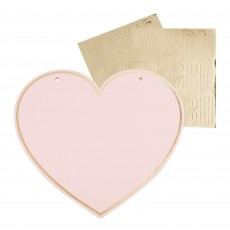 Pamper Club Party Supplies - Customisable Heart Name Sign