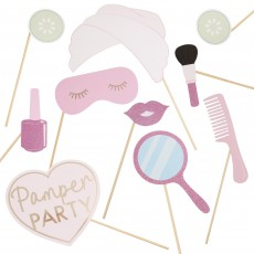 Pink Glitter Pamper Club Photo Props Pack of 10