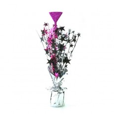 Hens Night Black, Silver & Cerise Martini Glass & Stars Centrepiece