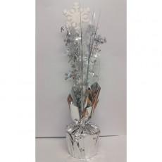Christmas Silver & White Snowflake Centrepiece